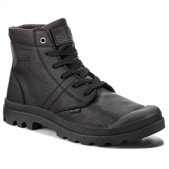 Palladium Pallabrousse Leather Men's Black/Black Ankle Boots