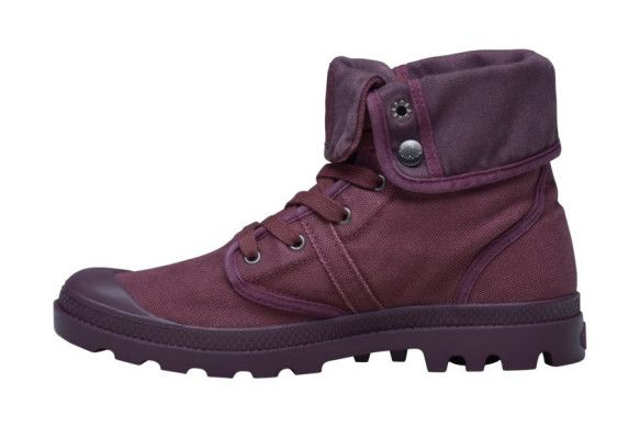 PALLADIUM Pallabrouse Baggy Cabernet Men's Fold Over Lace Up Canvas Hiking Boots