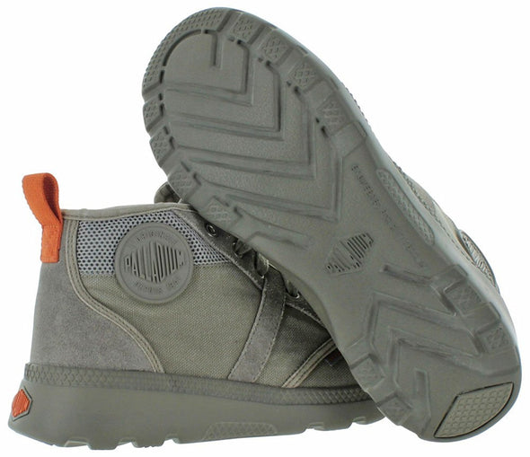 Palladium Pallaville Hi CMS Men's Low Top Cross Trainers Athletic Sneakers in Turbulence/Burnt Orange