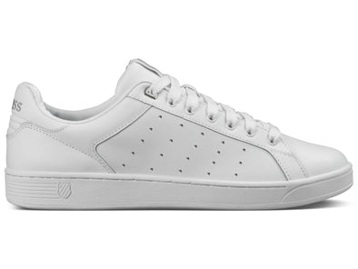 K- SWISS Clean Court CMF Women's Leather Low Top Tennis Shoes White/Gull Gray