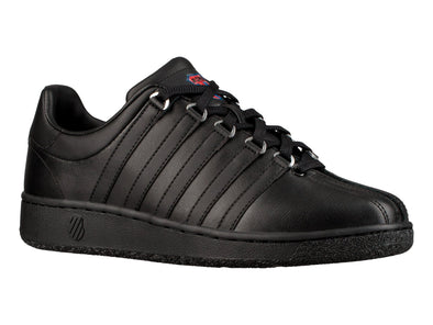 K-Swiss Classic VN Heritage Women's Black/Classic Blue/Ribbon Red Leather Tennis Shoes