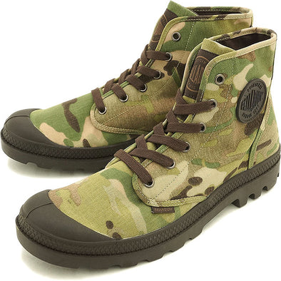 PALLADIUM Pampa Hi Multicam Men's Original Camo Camouflage Hiking Combat Boots