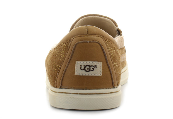 UGG Fierce Metallic Conifer Chestnut Suede Sneakers Women's Size 7