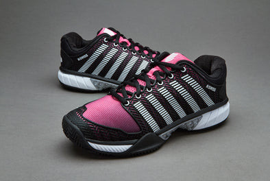 K-Swiss Hypercourt Express Women's Low Black/Shocking Pink Athletic Sneakers