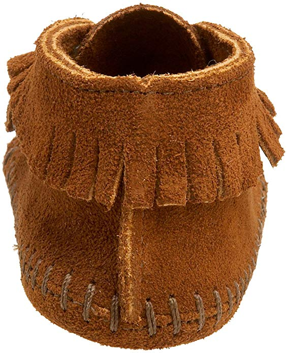 Minnetonka Brown Front Strap Bootie (Infant/Toddler) #1122