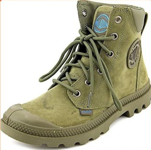 PALLADIUM Pampa Cuff WP Lux Olive Drab Unisex Leather Ankle Combat Hiking Boots