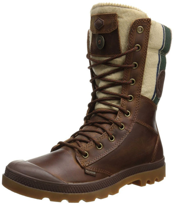 New with Defects PALLADIUM Tactical Plus Bridle Brown/RGB Men's Lace Up Hiking Boots