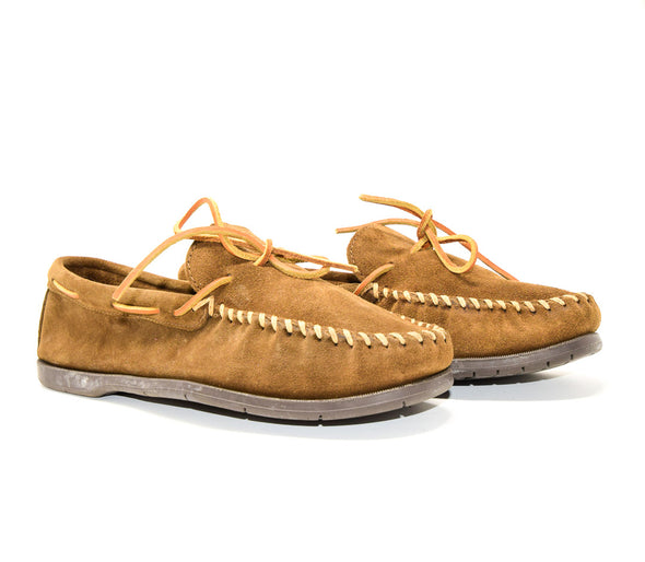 Minnetonka Men's Brown Leather Moccasins #787