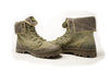 Palladium Unisex Fleece Lined Fold Down Collar Combat Boots in Green
