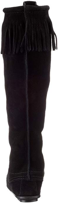 Minnetonka Women's Black Front Lace Knee-High Boot #1429