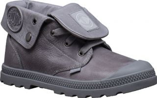 PALLADIUM Baggy Leather Low LP Women's Titanium Low Top Ankle Boots