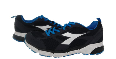 DIADORA Action III Black/Blue Mirage Athletic Running Sneakers Men's Size 8.5