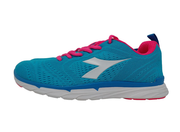 DIADORA Fluorescent Blue/Pink Mesh Athletic Running Sneakers Women's Size 7