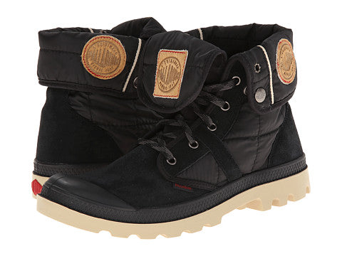 PALLADIUM Pallabrouse Baggy EX Black/Mojave Desert Women's Quilted Fold Down Hiking Boots