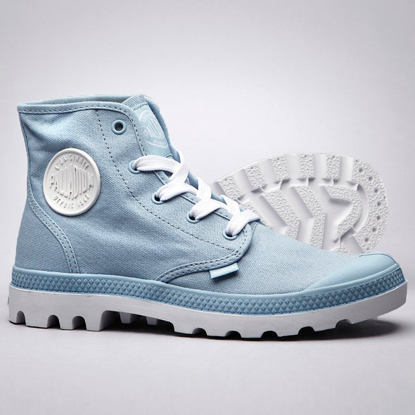 PALLADIUM Blanc Hi Unisex Dream Blue/White Canvas High Top Sneakers Ankle Boots