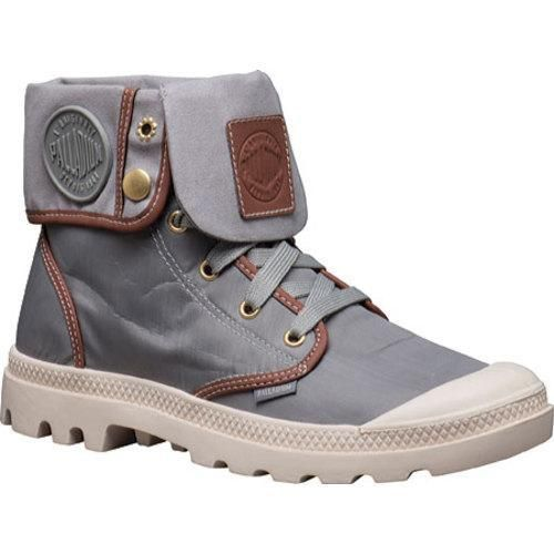 PALLADIUM Baggy TX Unisex Fold Over Lace Up Combat Hiking Boots in Mouse