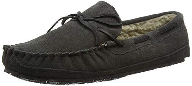 Minnetonka Charcoal Men's Casey Slipper #4150