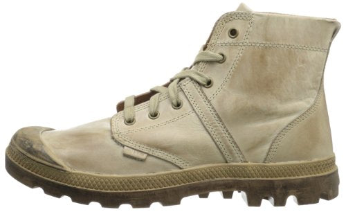 PALLADIUM Pallabrouse Lea 2 Khaki/Tan Men's Leather Lace Up Ankle Chukka Boots