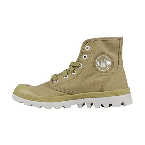 Palladium Pampa Hi Lite CVS Men's Ankle Hiking Combat Boots in Dark Khaki/Vapor