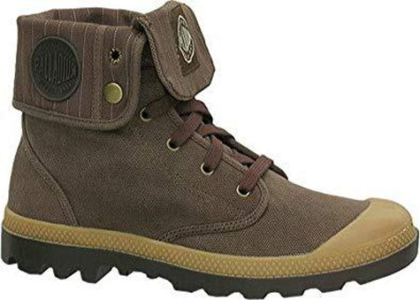 PALLADIUM Baggy Men's Chestnut/Putty Lace Up Fold Over Combat Hiking Boots