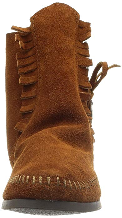 Minnetonka Women's Brown Two Button Boot #432