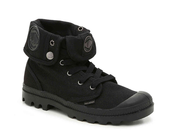 PALLADIUM Pallabrouse Baggy TW Men's Canvas Combat Hiking Boots in Black