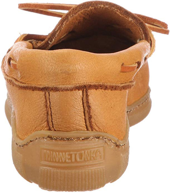 Minnetonka Women's Natural Moosehide Classic Slip-On #490W