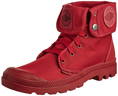 PALLADIUM Mono Chrome Baggy II Unisex Fold Down Combat Hiking Boots in Maroon