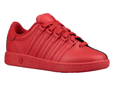 K SWISS Classic VN Men's Leather Tennis Shoes in Ribbon Red