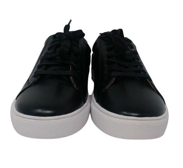 HARRISON MYLES S-1811 Black Patent Low Top Sneakers Men's Size 11