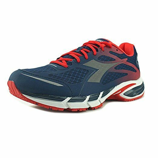DIADORA M. Shindano Plus 2 Navy/Flame Red Athletic Running Sneakers Men's Size 8.5