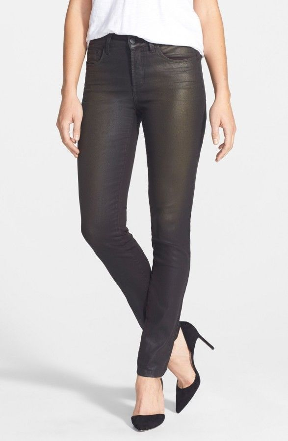 NYDJ Not Your Daughters Jeans BRNZC BRONZE COATING Leggings Pant Petite $150