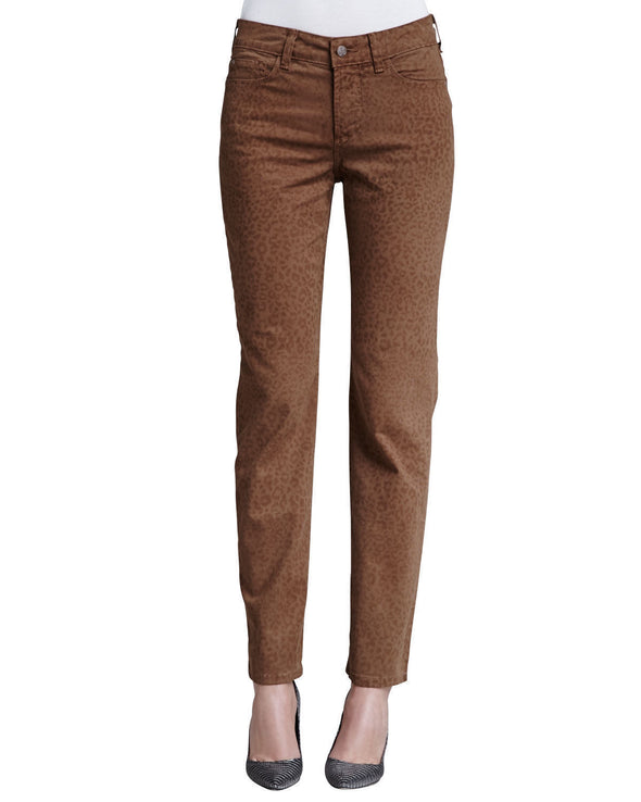 NYDJ Not Your Daughters Jeans DARK NUTMEG Alisha JAGUAR ANKLE Petite Pants
