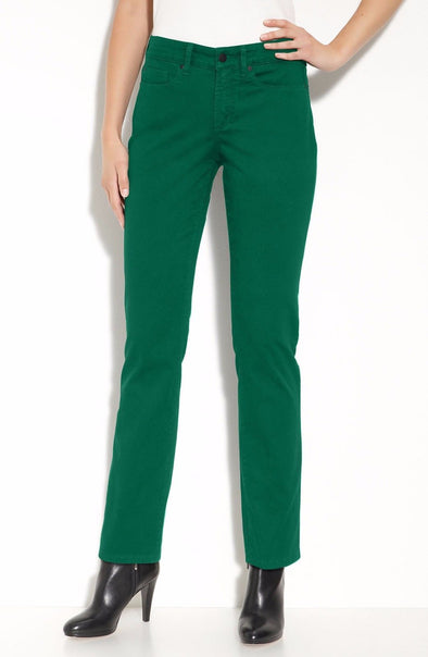 NYDJ Not Your Daughters Jeans SHERI SKINNY Viridian Green Teal $110 Petite