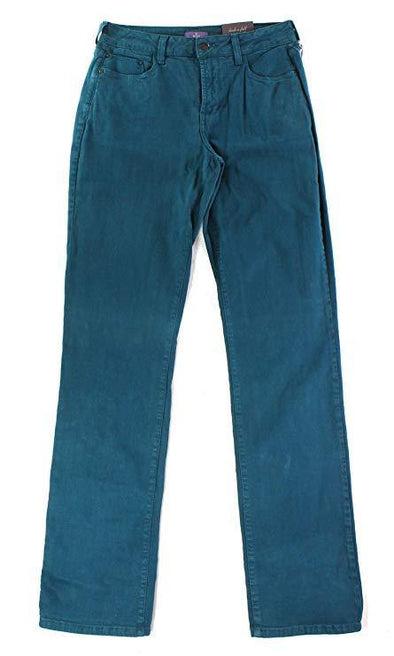 NYDJ Not Your Daughters Jeans Marilyn Dark Teal Straight $110 Size 12