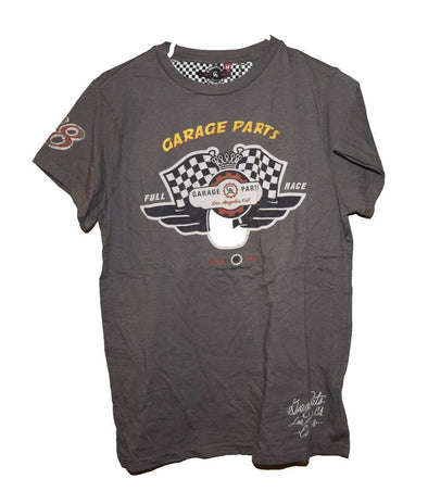 Ed Hardy by Christian Audigier Garage Parts Green T-Shirt Men's Size Medium