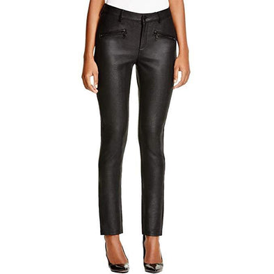 NYDJ Not Your Daughters Jeans Ami BLACK SHIMMER Stretch Skinny Pants Petite