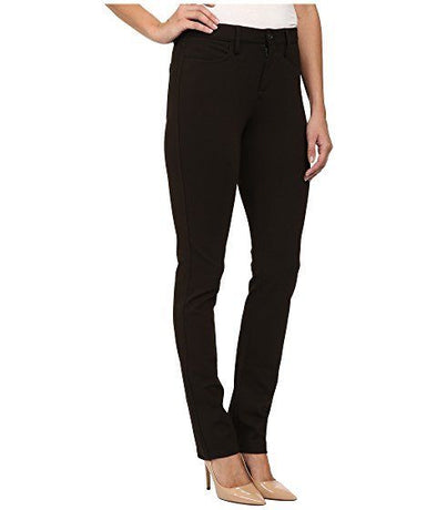NYDJ Not Your Daughters Jeans SAMANTHA SLIM MOLASSES DARK BROWN $98 Women's Petite Pants