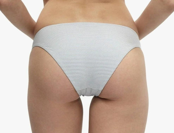 Onia Lily Full Sporty Grey Stripe Bikini Bottom