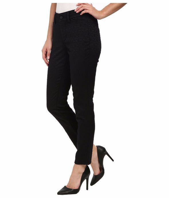 NYDJ Not Your Daughters Jeans BLACK FLORAL JACQUARD Petite Legging $130