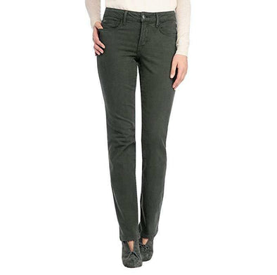 NYDJ Not Your Daughters Jeans Marilyn Green Thorn Straight Leg Petite