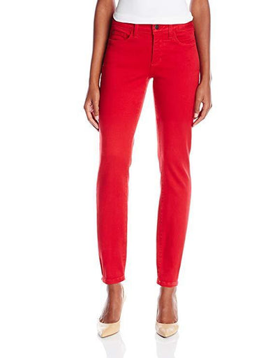 NYDJ Not Your Daughters Jeans Alina CARDINAL RED Leggings Women's Petite Pants