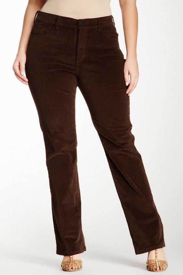 NYDJ Not Your Daughters Jeans Marilyn Straight Petite GANACHE Corduroy