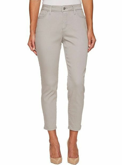 NYDJ Not Your Daughters Jeans MOONSTONE GREY ANKLE Denim $110 Petite