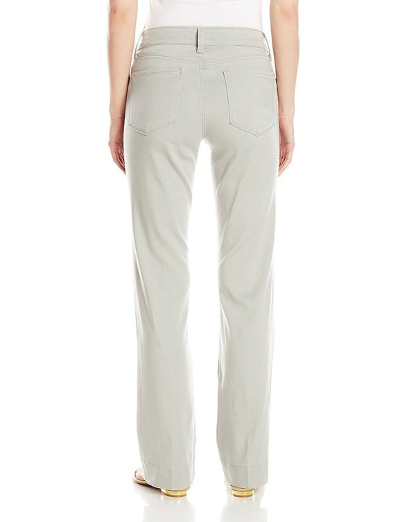 NYDJ Not Your Daughters Jeans MNSTG MOONSTONE GREY TROUSER Pants Petite