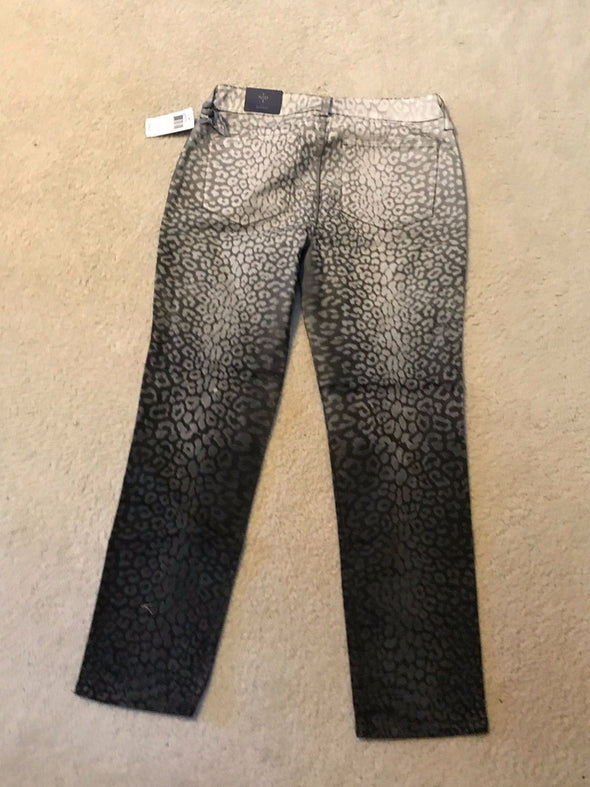 NYDJ Not Your Daughters Jeans Sheri OMBRE Cheetah Multi SKINNY $140 Petite