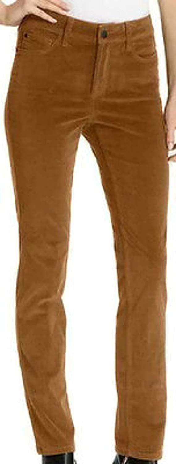 NYDJ Not Your Daughters Jeans NUTMEG CORDUROY Straight Leg Pant Petite