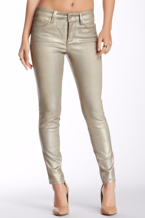 NYDJ Not Your Daughters Jeans SHIMMERY GOLD PYRITE FOIL Party Legging