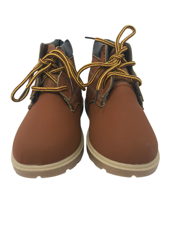 CJ Brand Sport Shoes Little Brown Ankle Work Boots Kid's Size 4
