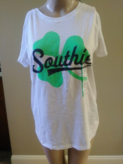 Southie Boston Shamrock T-Shirt Women's Size M